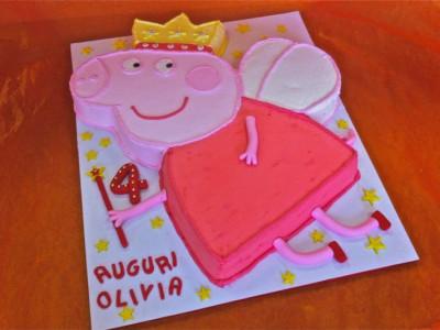 Torta di compleanno per Olivia con disegno di Peppa Pig