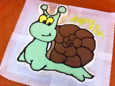 Torta creativa lumaca