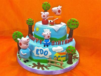 Torta creativa in Pasta di Zucchero per il compleanno di Edo