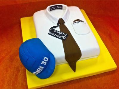 Torta creativa in Pasta di Zucchero per il compleanno di Matteo